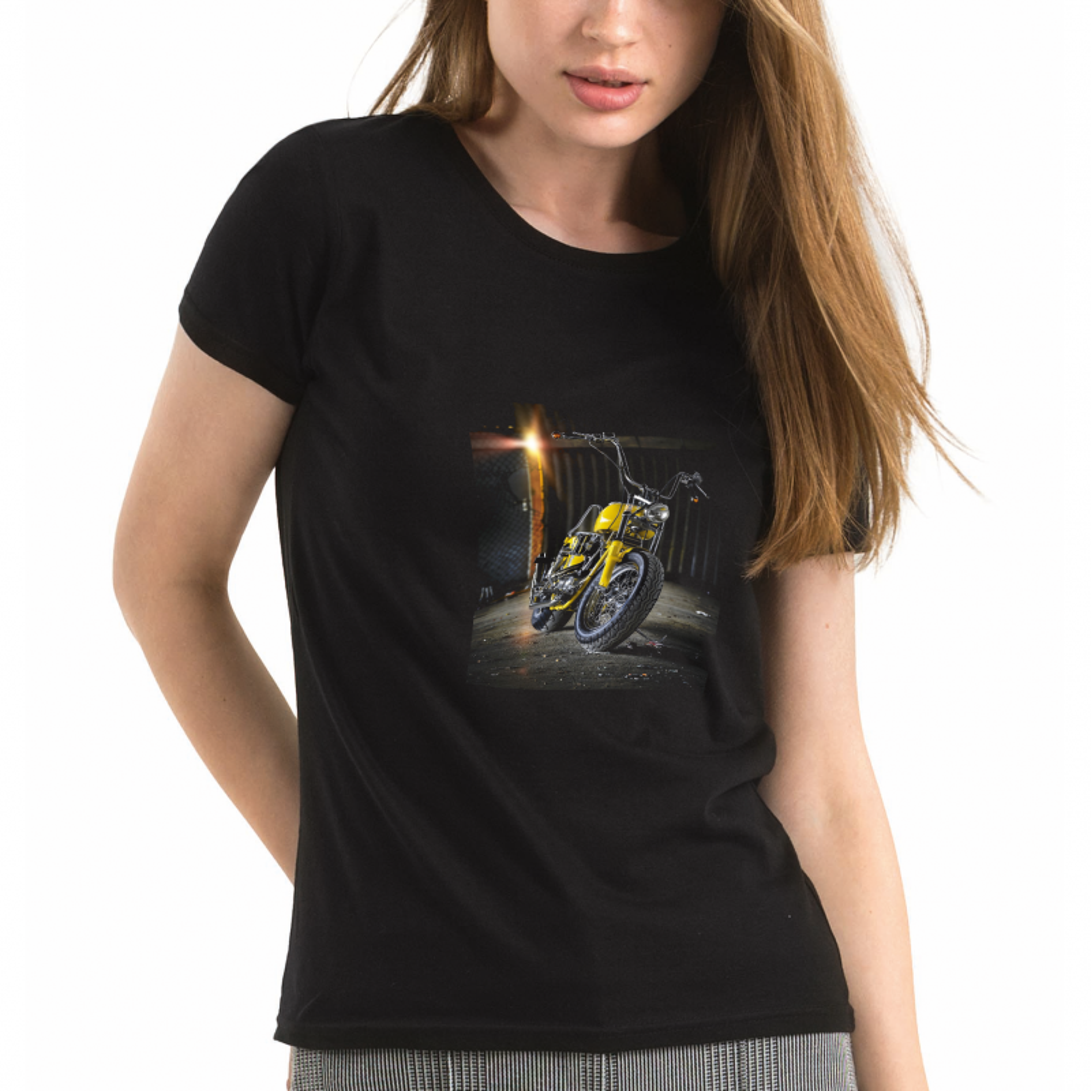 53f6684895f Dámské černé tričko s vlastním potiskem