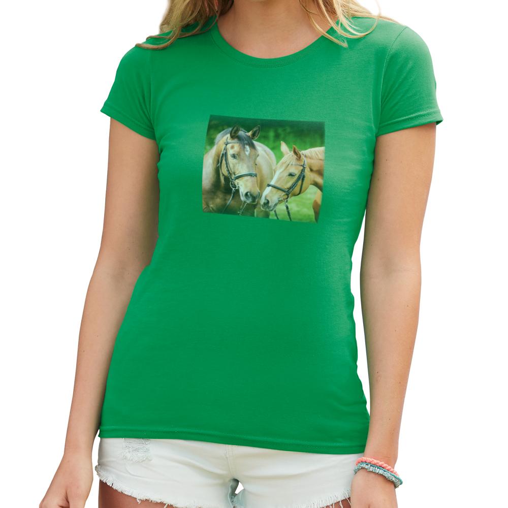 Potisk barevného dámského trička