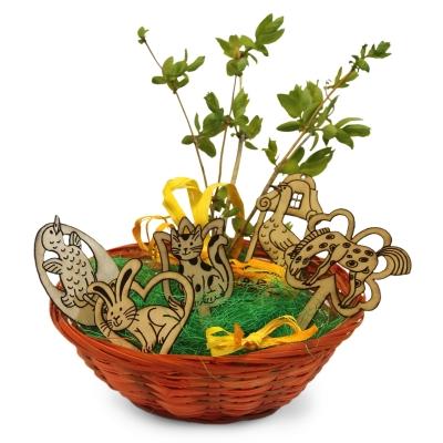 Dřevěné velikonoční dekorace - sada