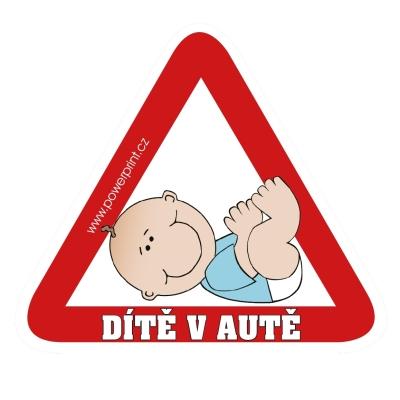 Samolepka dítě v autě -...