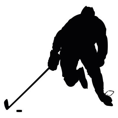 Vyřezávaná samolepka Hokej