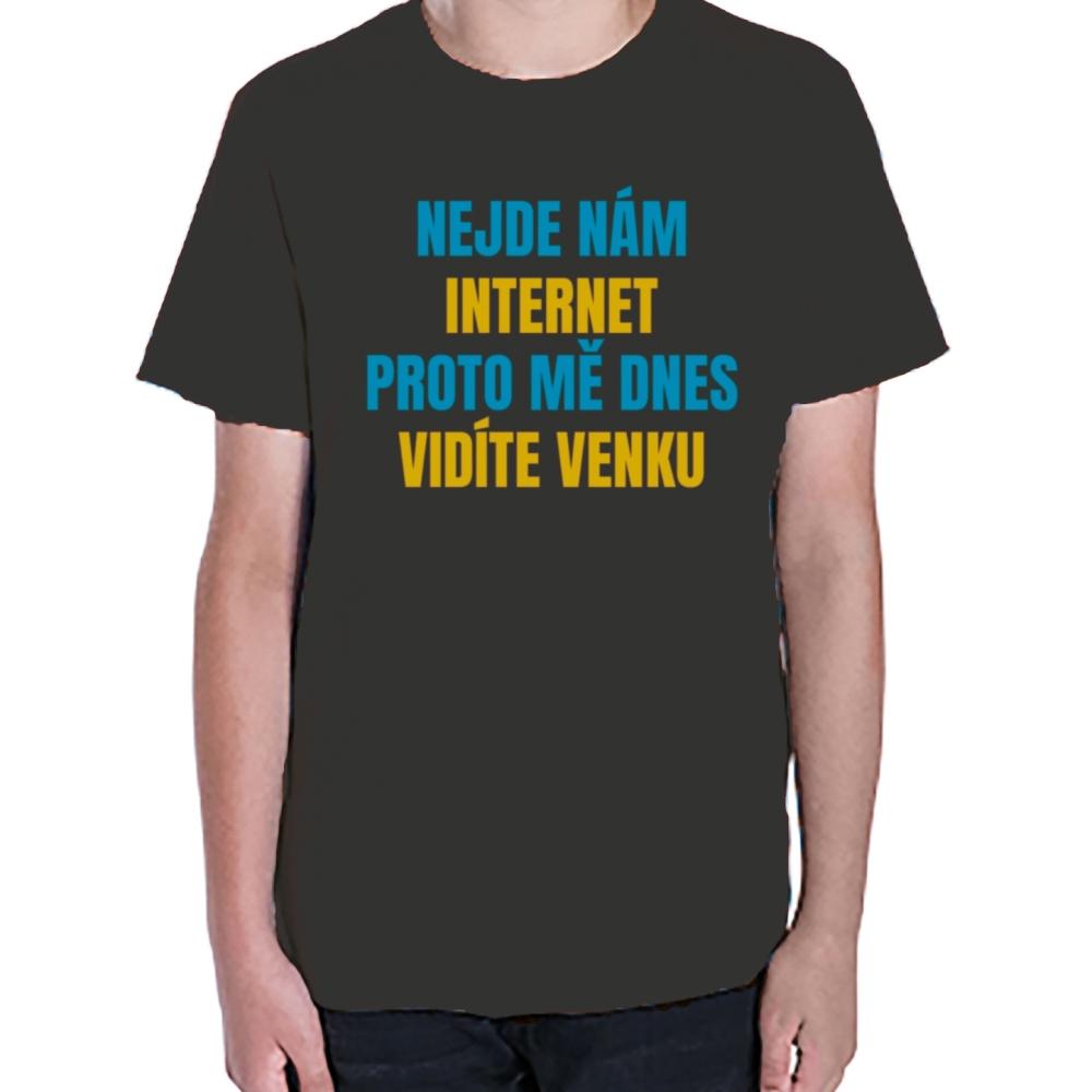 f5a99a57c12a ... Vtipné tričko Nejde nám internet. vtipné dětské tričko