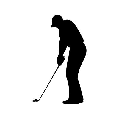 Vyřezávaná samolepka Golf