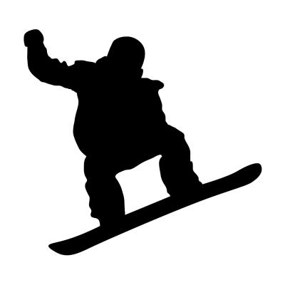 Vyřezávaná samolepka Snowboard