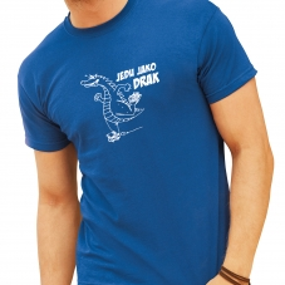 vtipné tričko jedu jako drak