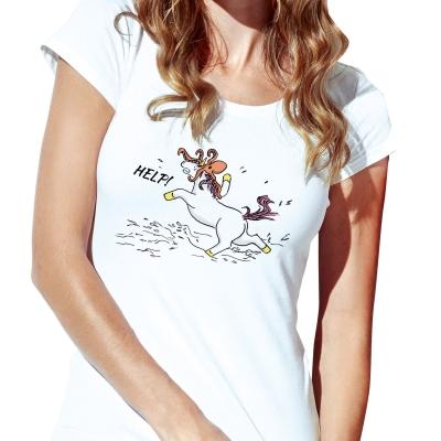 Dámské bílé tričko Léto u moře