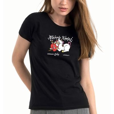 Dámské černé tričko Xmas 1
