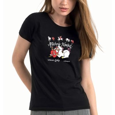 Dámské černé tričko Xmas 2