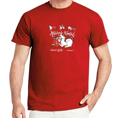 Pánské červené tričko Xmas 2