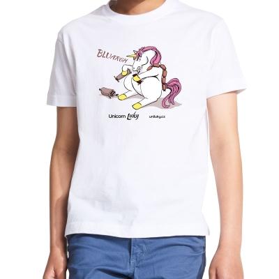 Dětské bílé tričko Masopust
