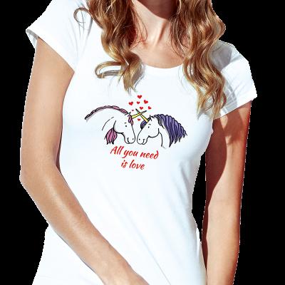Dámské bílé tričko s...
