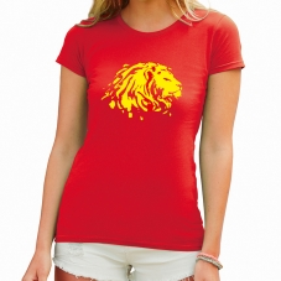 Dámské tričko s potiskem Lev