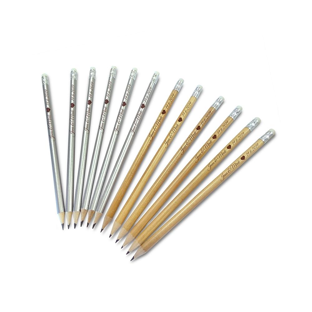 svatební tužky s vlastním potiskem
