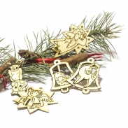 Laserované vánoční dekorace